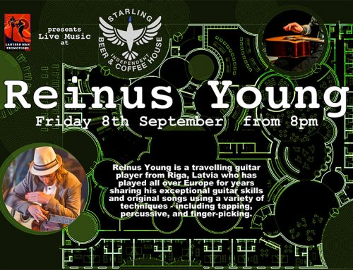 Reinis Young (Lantern Lounge Sessions) Friday 8th Sept 8pm
